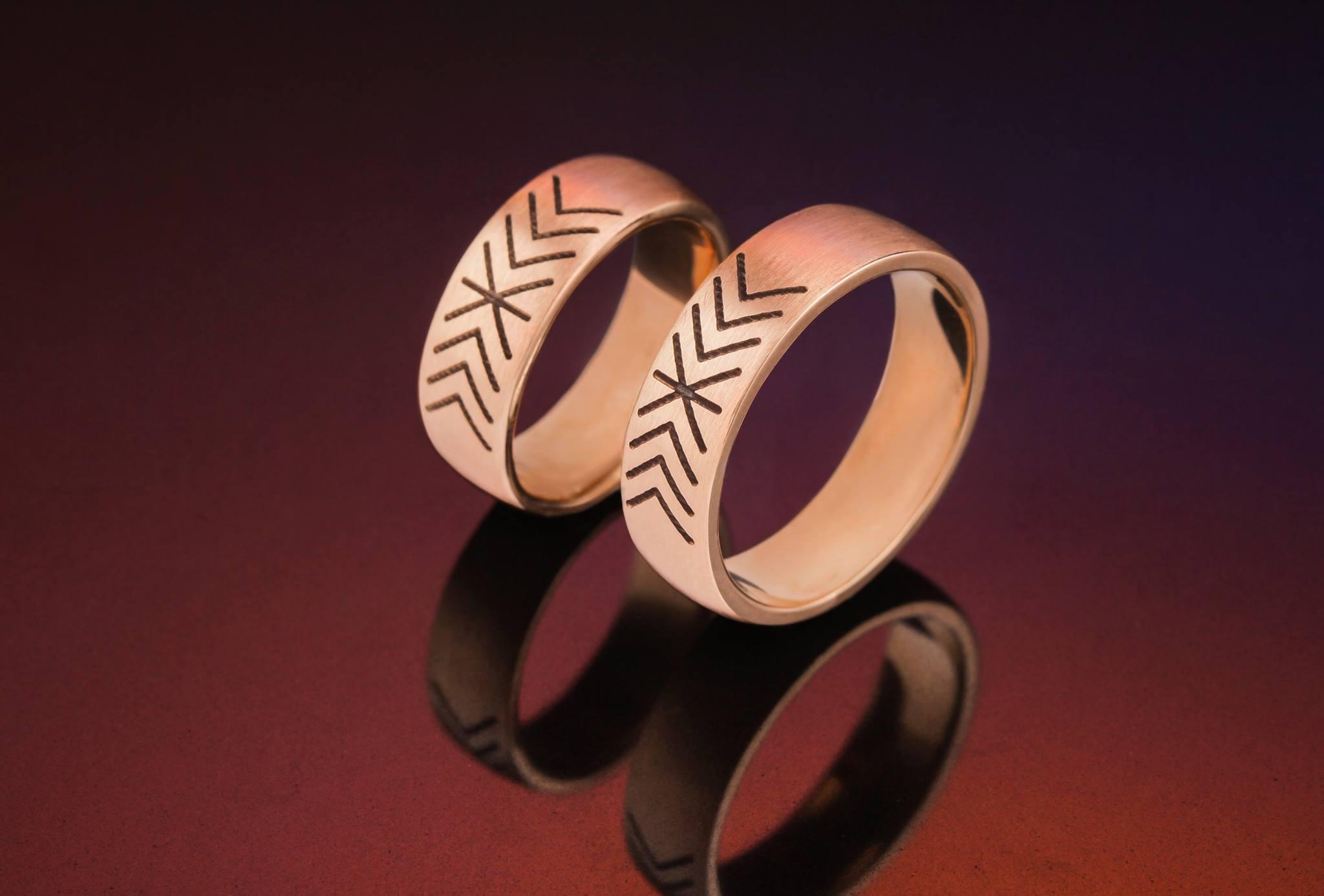 Vestuviniai žiedai su Baltų motyvais