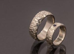 Evaldo ir Evelinos balto aukso vestuviniai žiedai