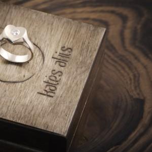 """Sužadėtuvių žiedas """"Širdis"""""""