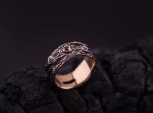 Vyriškas žiedas su deimantais