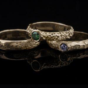 Žiedų rinkinys iš aukso
