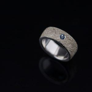 Sidabrinis sužadėtuvių žiedas