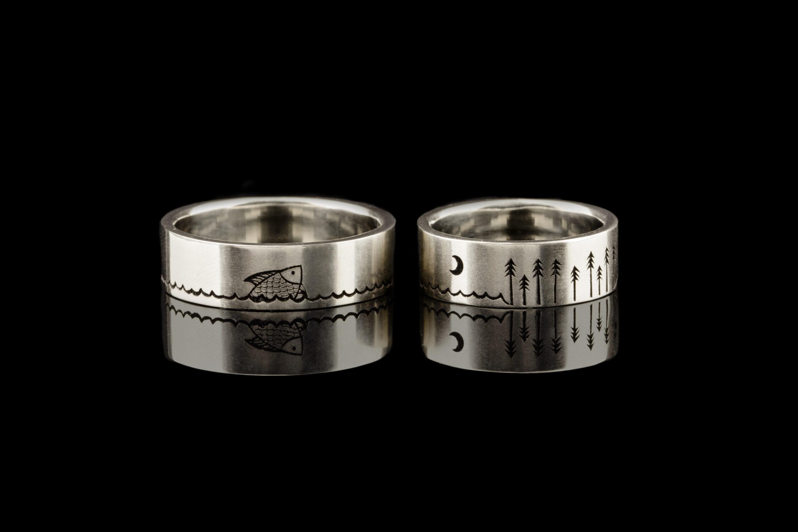 vienetiniai vestuviniai žiedai