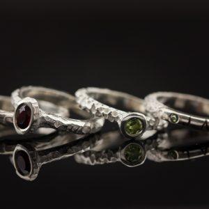 Sidabrinis žiedų rinkinys
