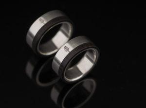 Vestuviniai žiedai su mediena
