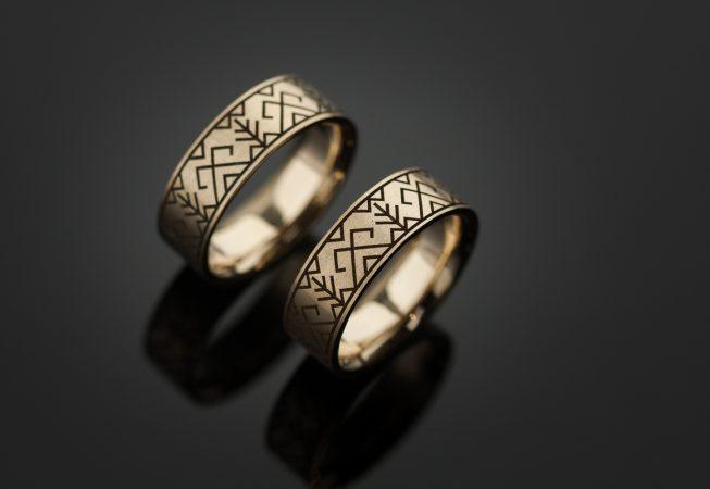 Bronziniai vestuviniai žiedai
