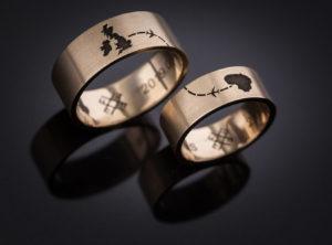 Justinos ir Andriaus vestuviniai žiedai