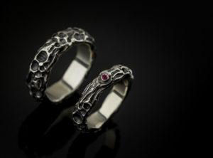 Akvilės ir Gedimino Balto aukso vestuviniai žiedai