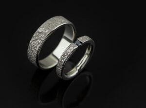 Vestuviniai žiedai iš balto aukso