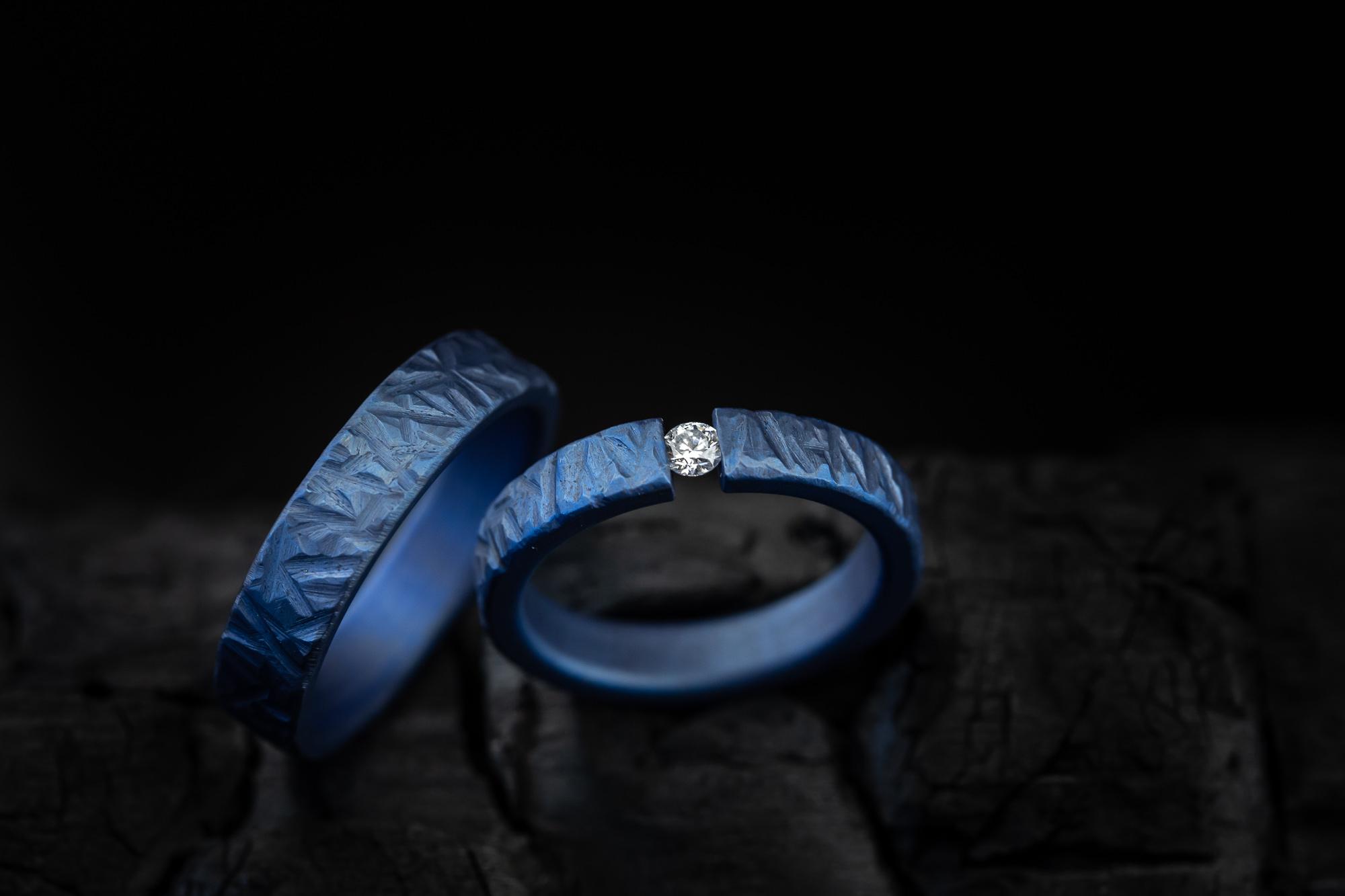 žiedai iš titano