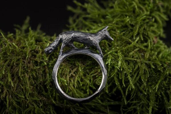 Sidabrinis žiedas lapė